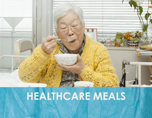 Nutritious meals delivered to healthcare patients