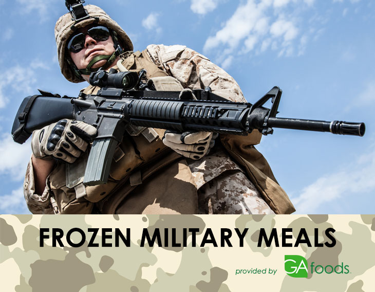 Frozen meals for the military