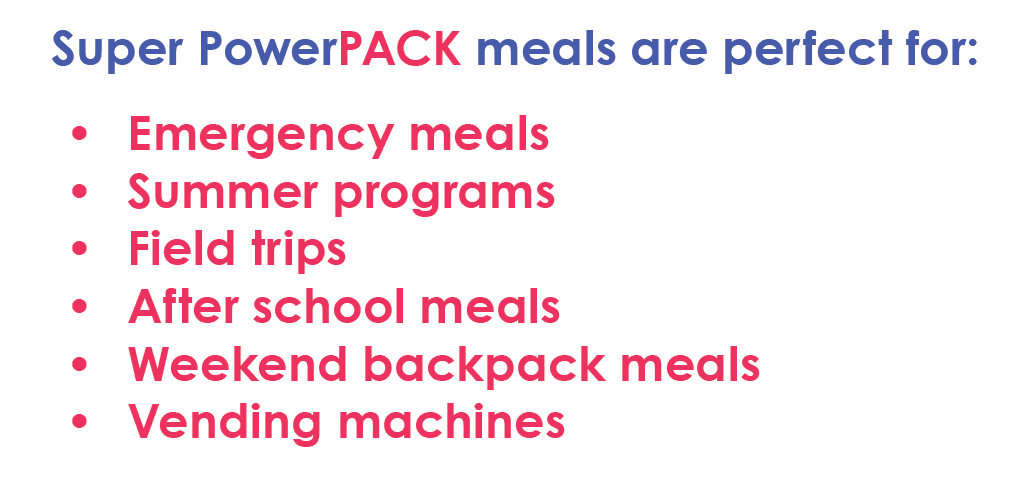 Super PowerPACK Lunches are great for...