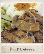 Frozen home delivered meals - wide variety of beef selections