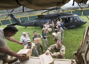 US Military unloads SunMeadow emergency meal kits in Puerto Rico